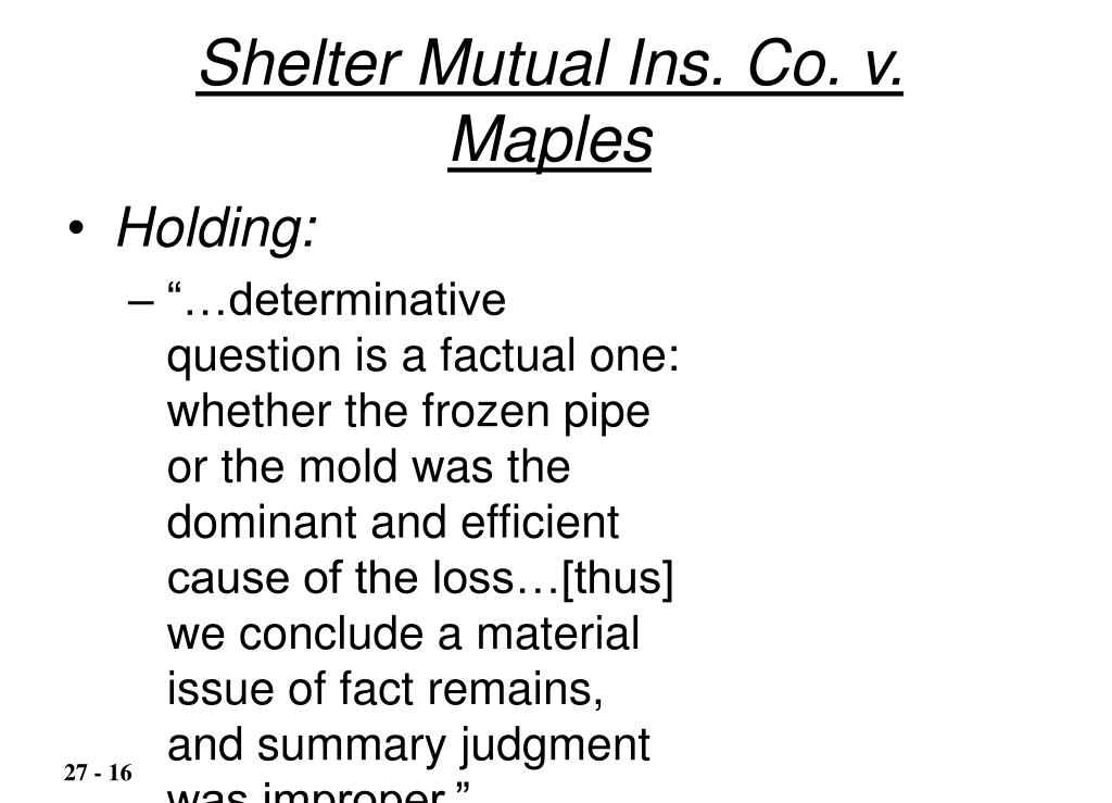 Shelter Mutual Ins. Co. v. Maples