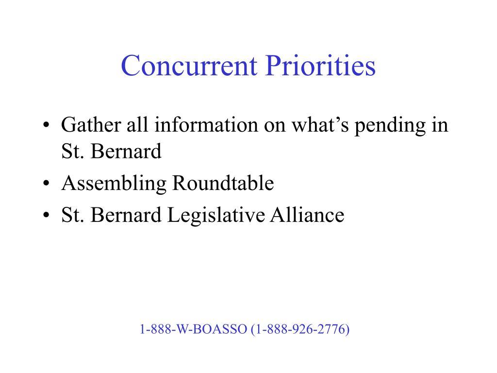 Concurrent Priorities