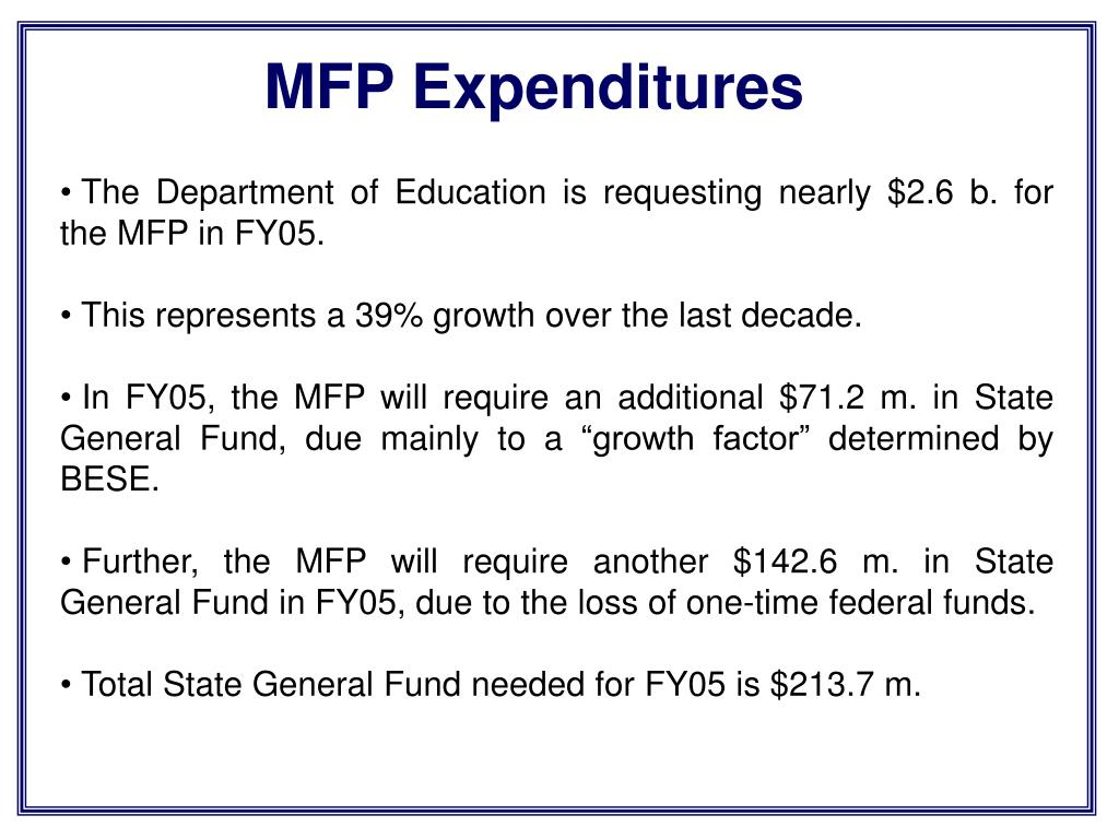 MFP Expenditures