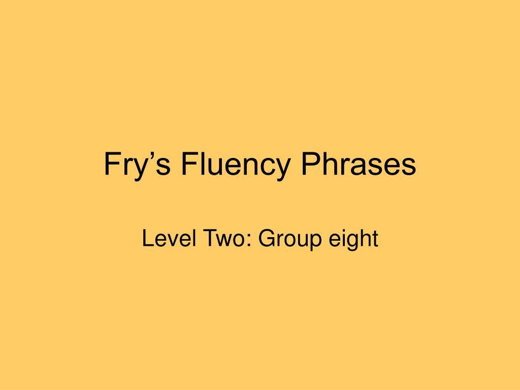 Fry's Fluency Phrases