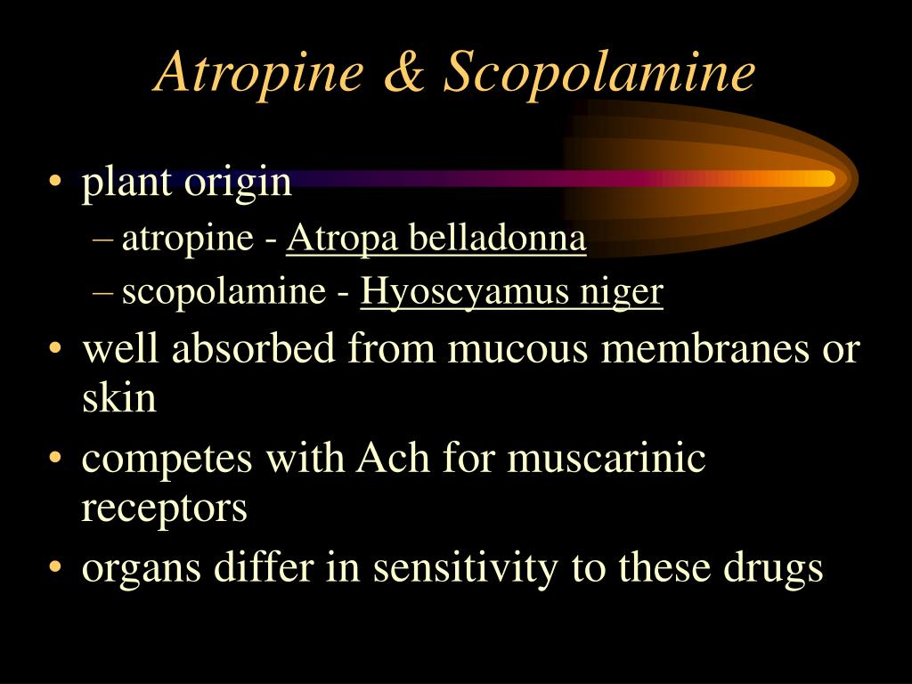 Atropine & Scopolamine