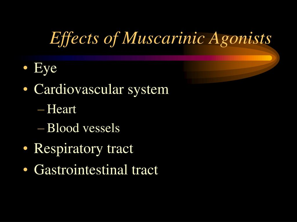 Effects of Muscarinic Agonists