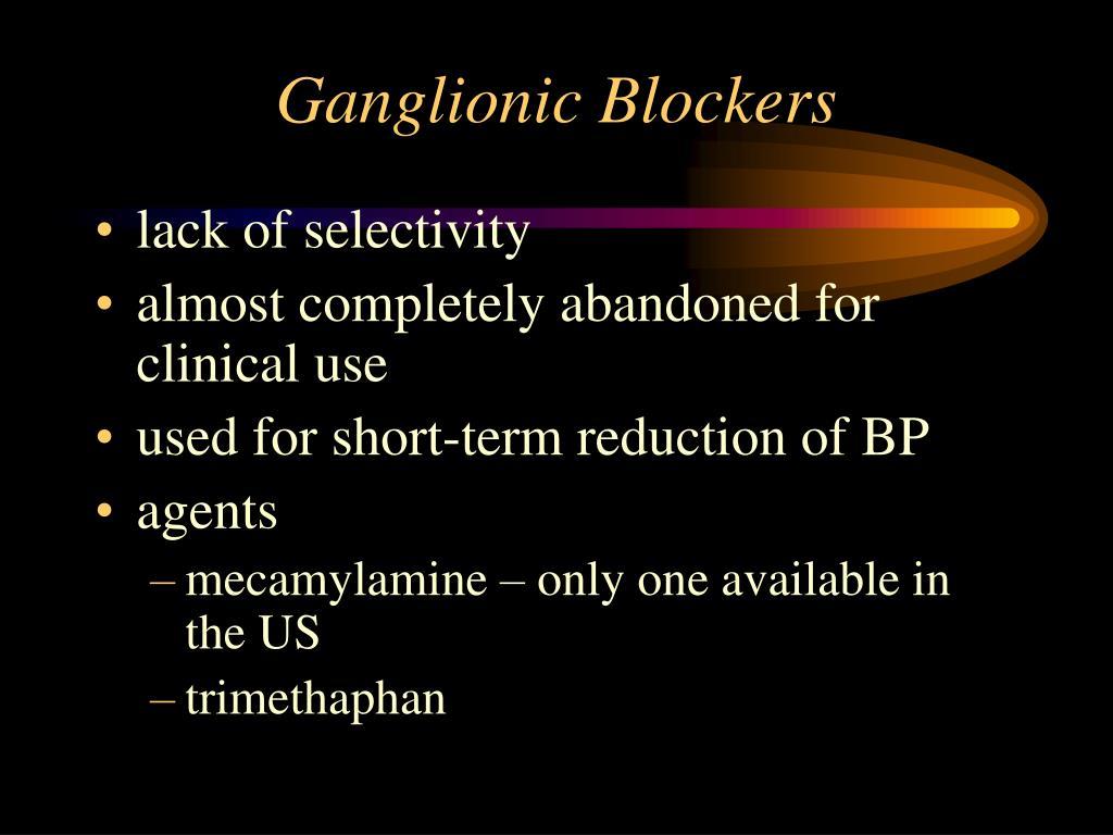 Ganglionic Blockers