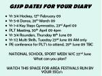 gssp dates for your diary11