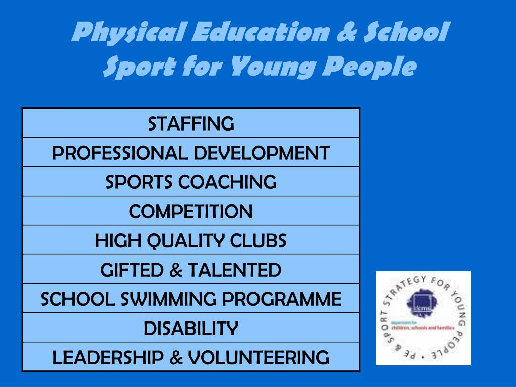 Physical Education & School Sport for Young People