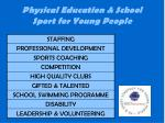 physical education school sport for young people
