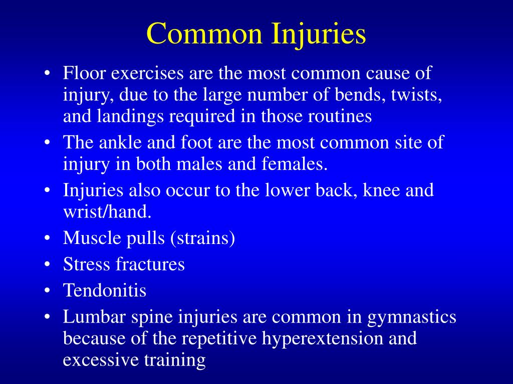 Common Injuries