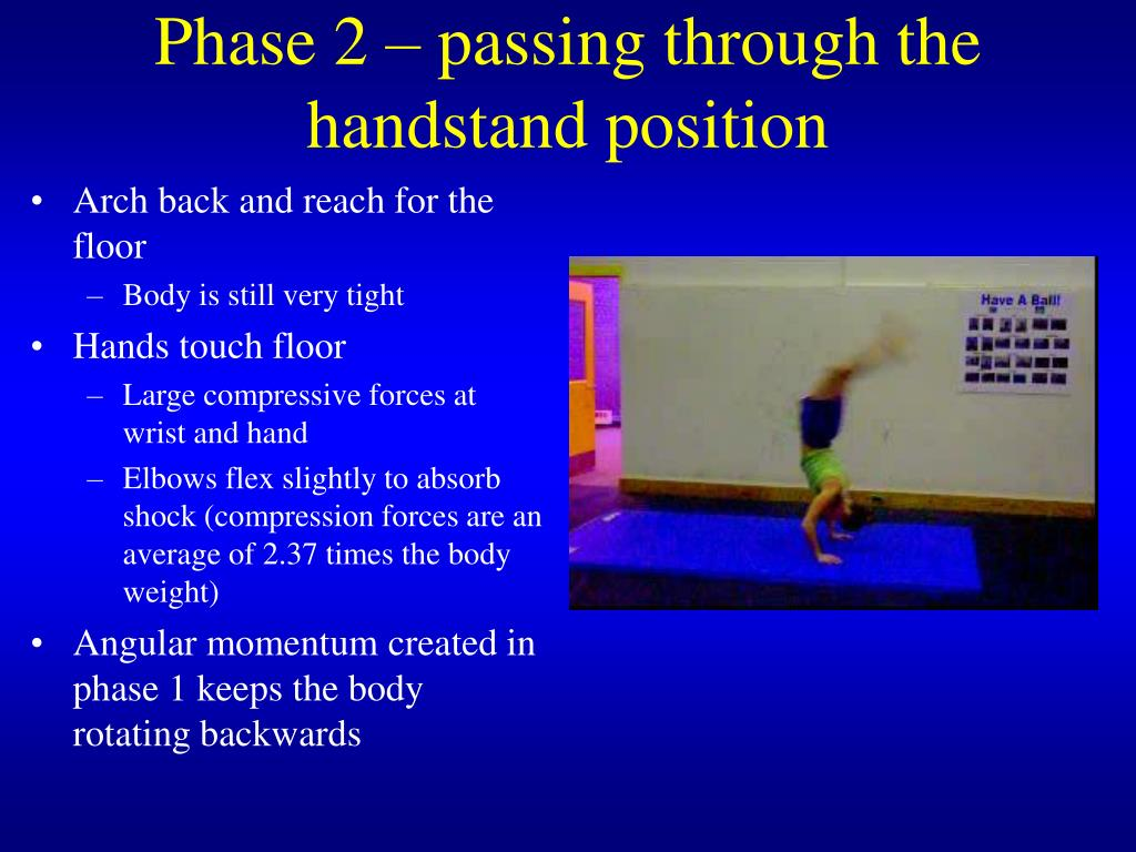 Phase 2 – passing through the handstand position