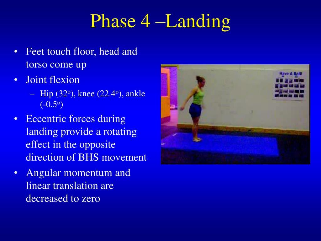 Phase 4 –Landing