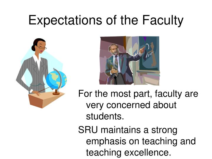 Expectations of the faculty l.jpg