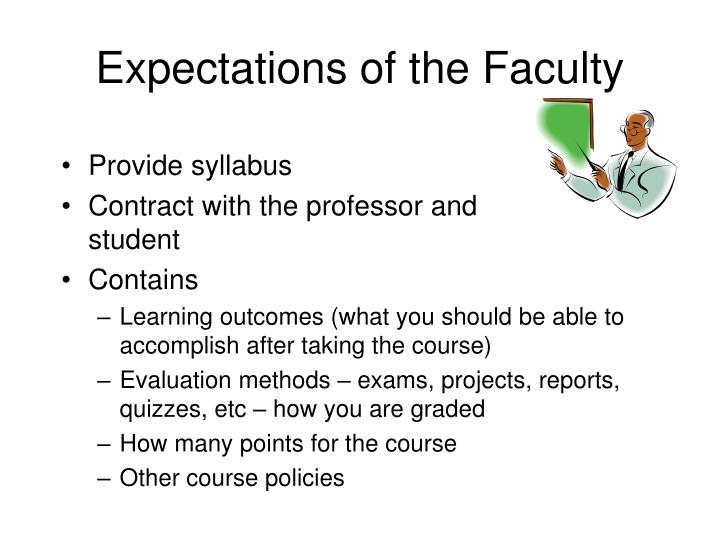 Expectations of the faculty2 l.jpg