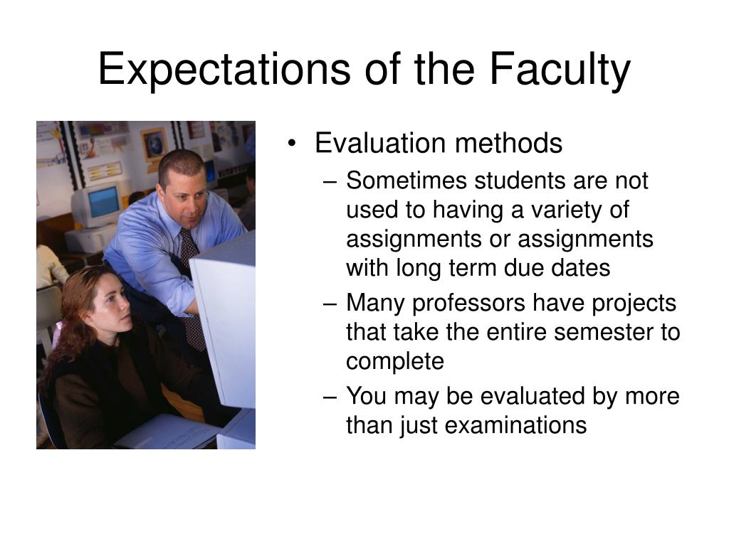 Expectations of the Faculty