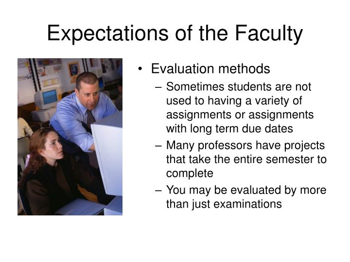Expectations of the faculty3 l.jpg