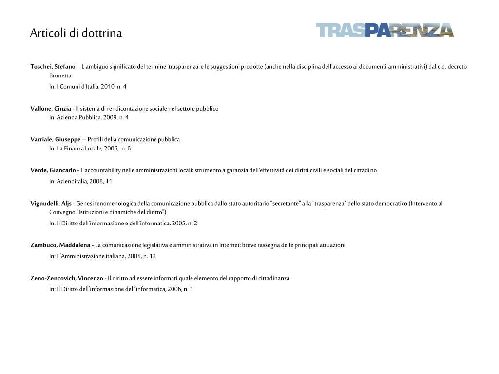 Articoli di dottrina