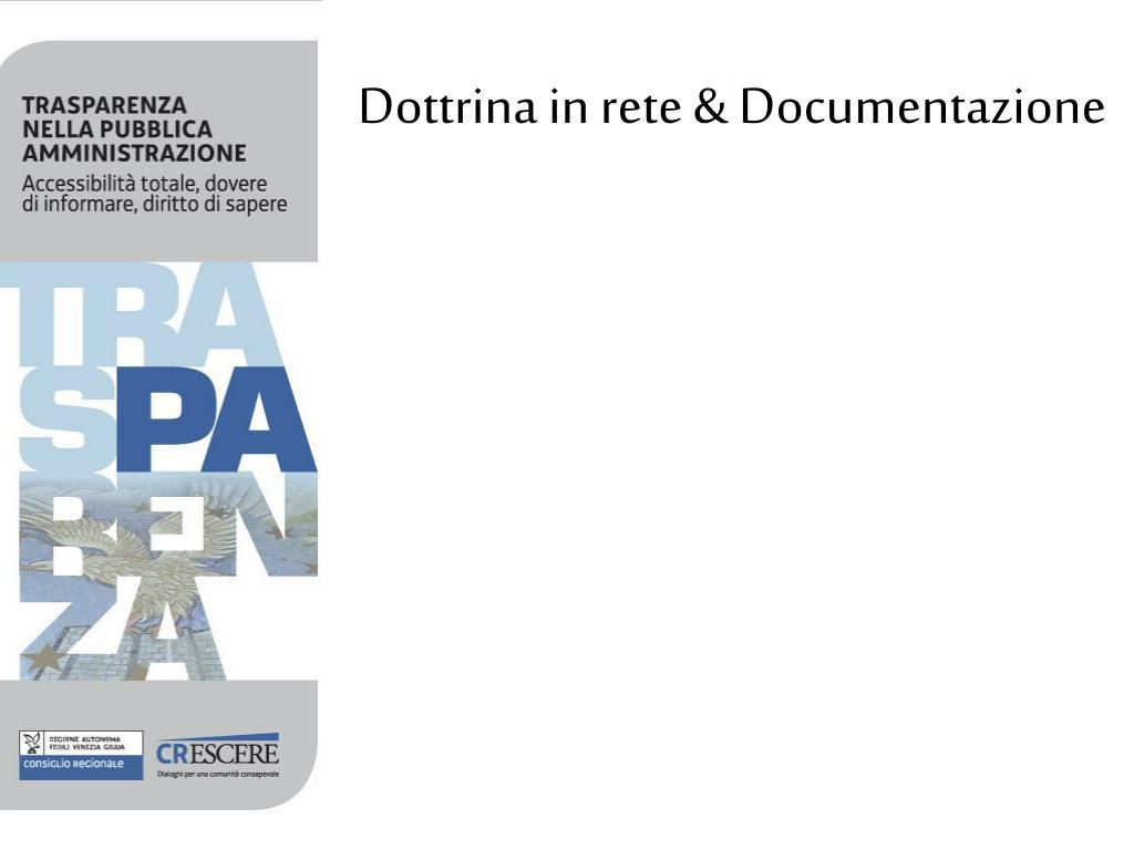 Dottrina in rete & Documentazione