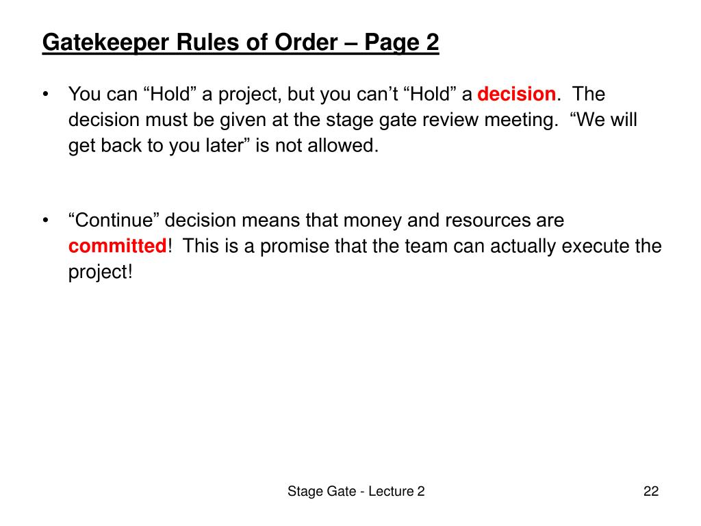 Gatekeeper Rules of Order – Page 2