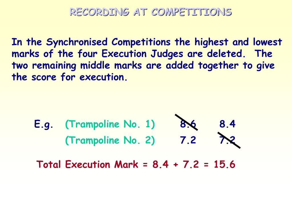 RECORDING AT COMPETITIONS