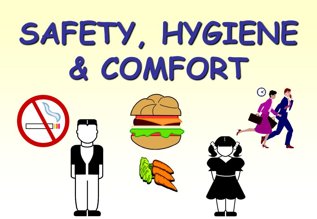 SAFETY, HYGIENE & COMFORT
