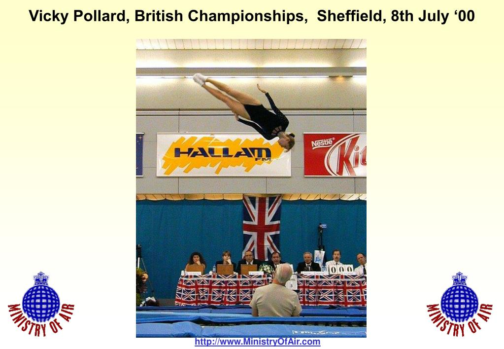 Vicky Pollard, British Championships,  Sheffield, 8th July '00