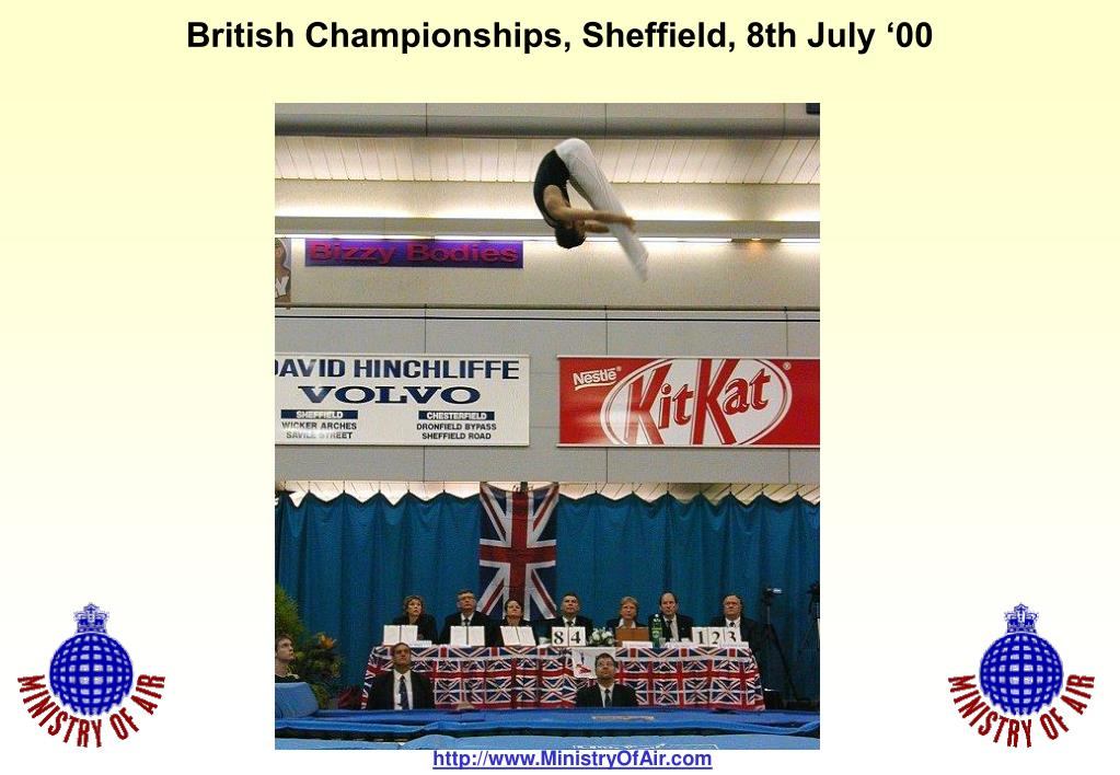 British Championships, Sheffield, 8th July '00