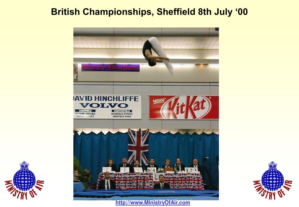 British Championships, Sheffield 8th July '00