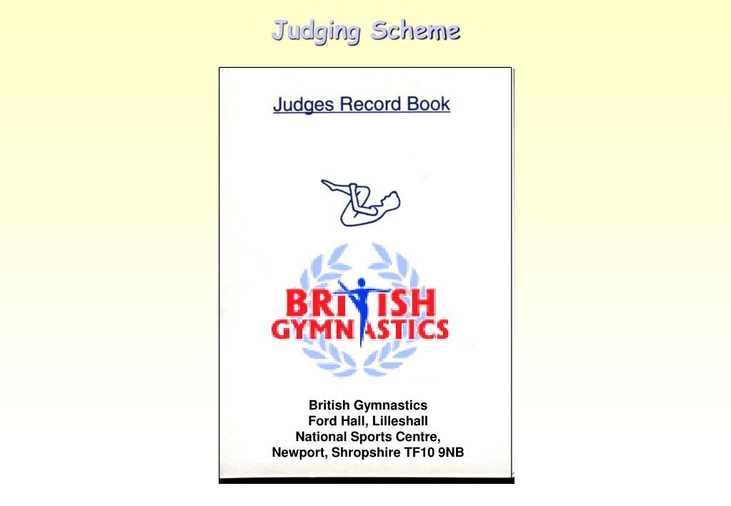 Judging Scheme