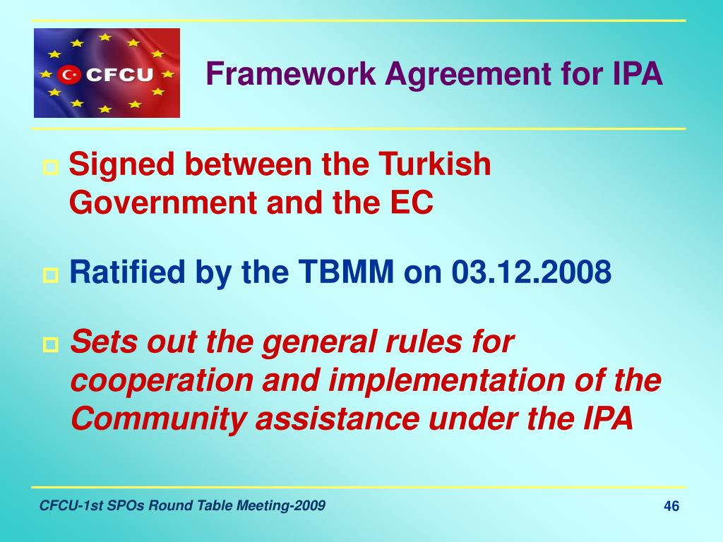 Framework Agreement for IPA