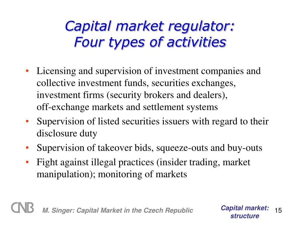 Capital market regulator: