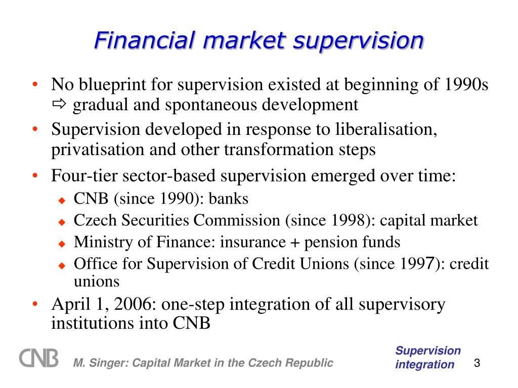 Financial market supervision