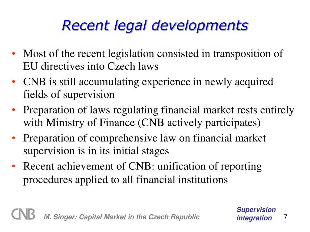 Recent legal developments