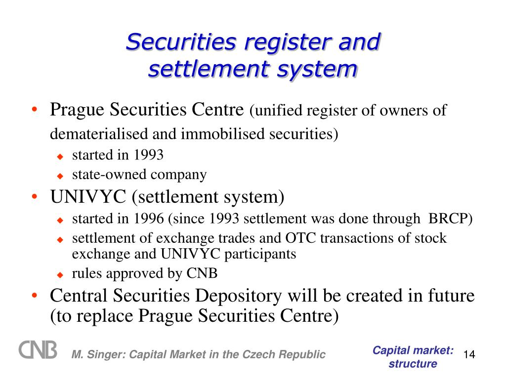 Securities register and