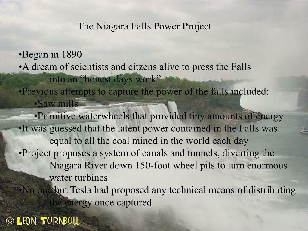 The Niagara Falls Power Project