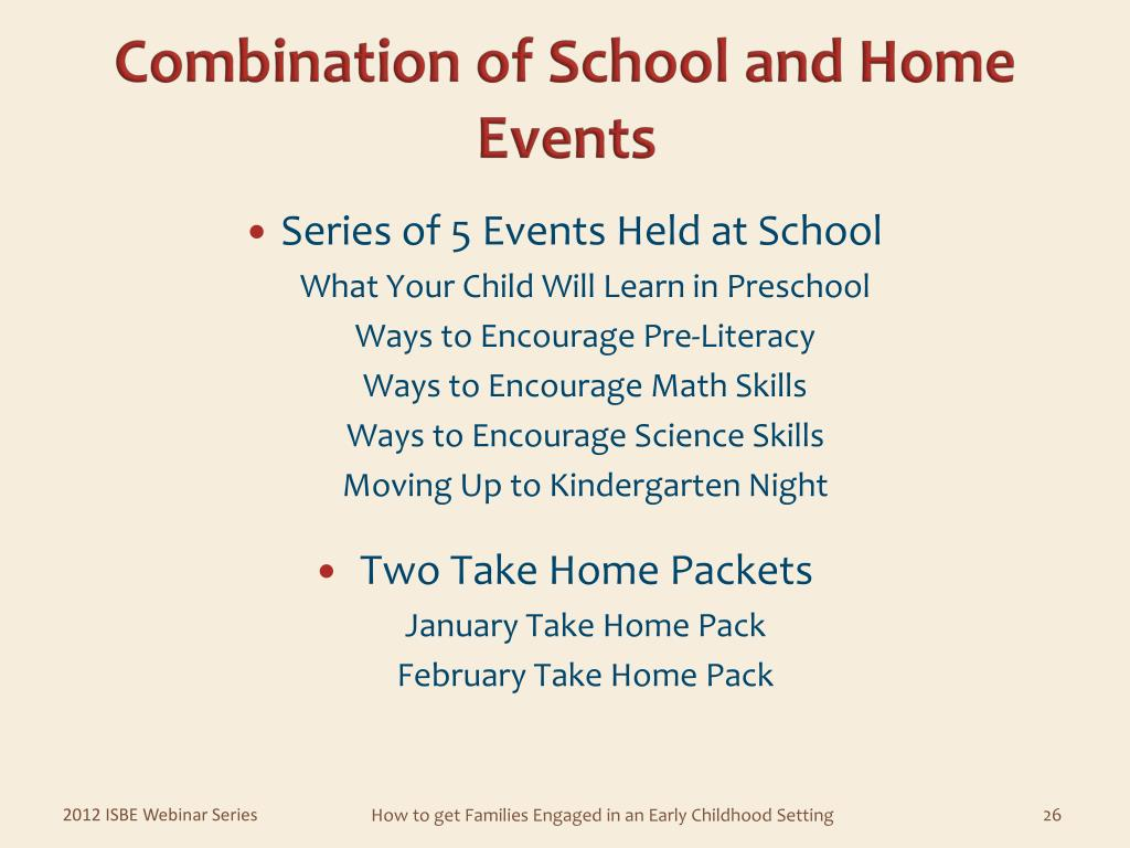 Combination of School and Home Events