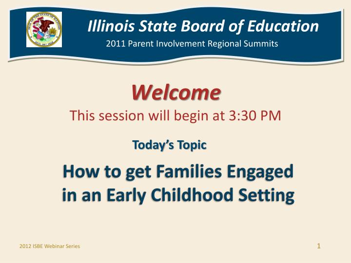 How to get families engaged in an early childhood setting l.jpg