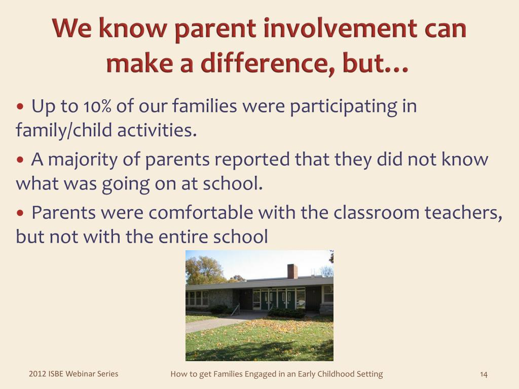We know parent involvement can make a difference, but…