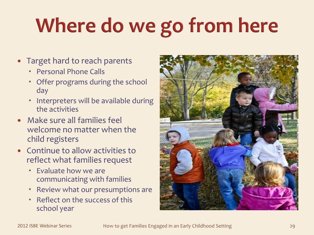 Target hard to reach parents
