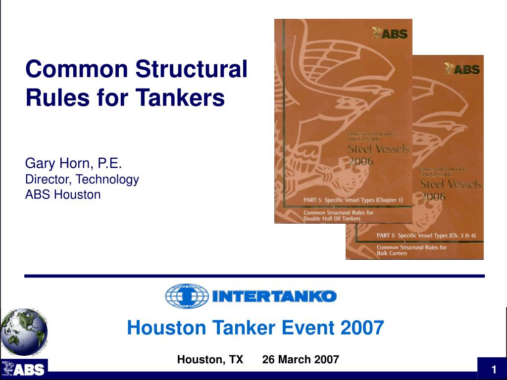 Common Structural Rules for Tankers