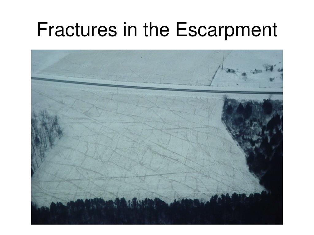 Fractures in the Escarpment