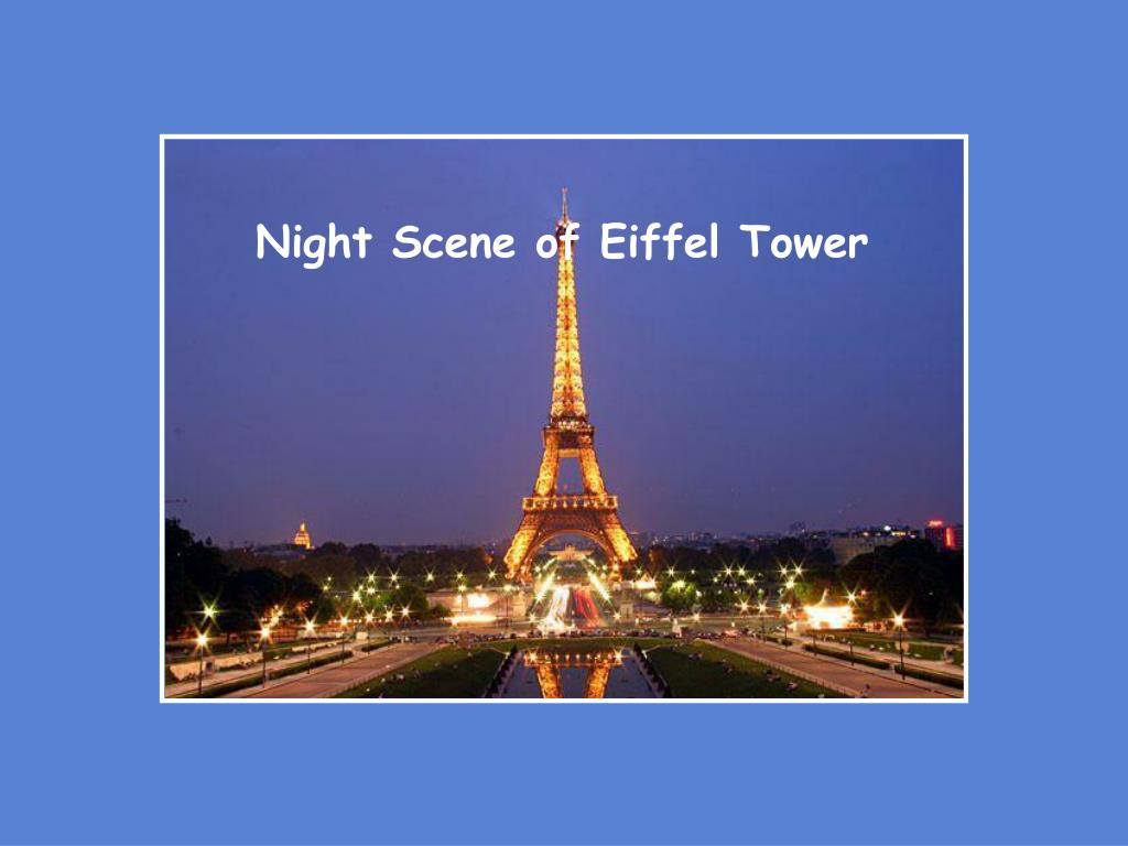 Night Scene of Eiffel Tower