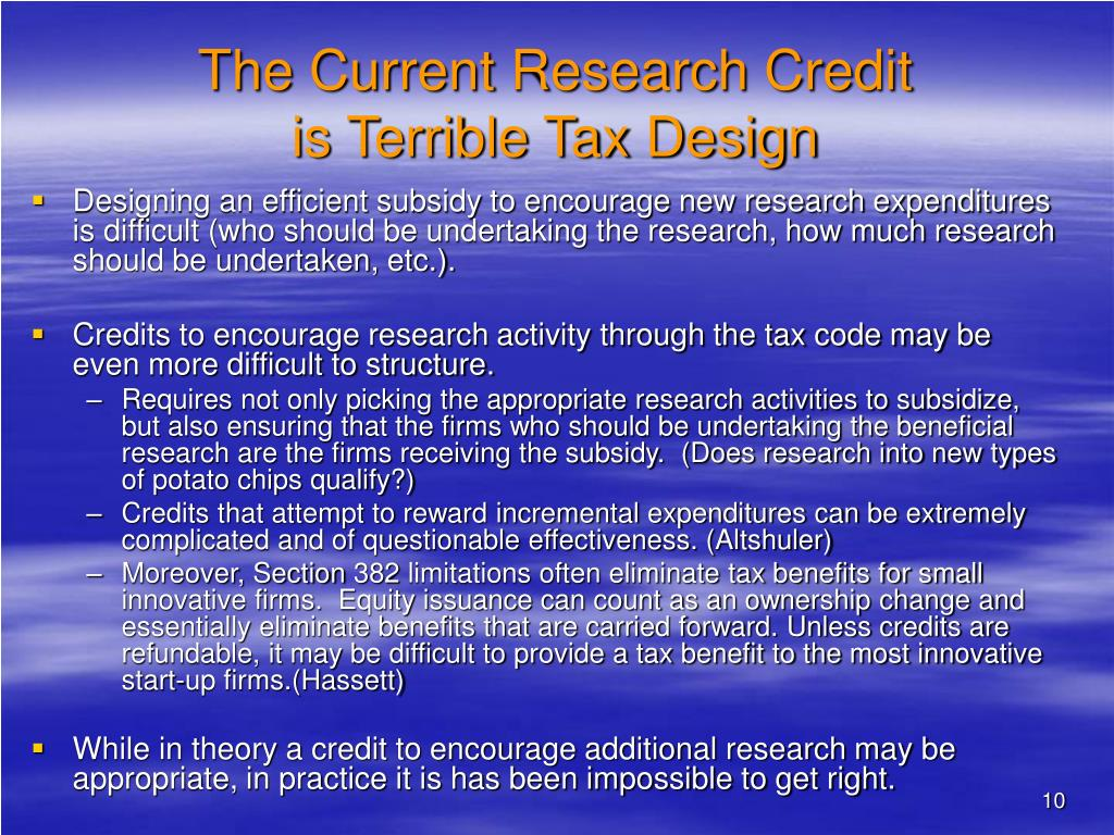 The Current Research Credit