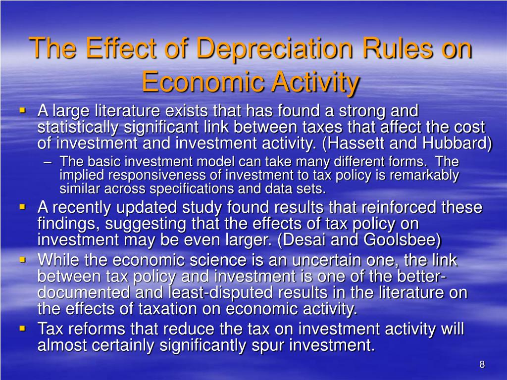 The Effect of Depreciation Rules on Economic Activity