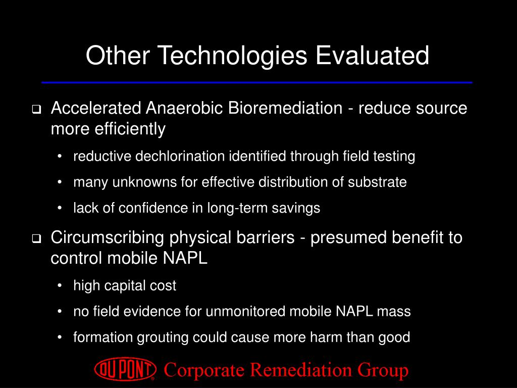 Other Technologies Evaluated