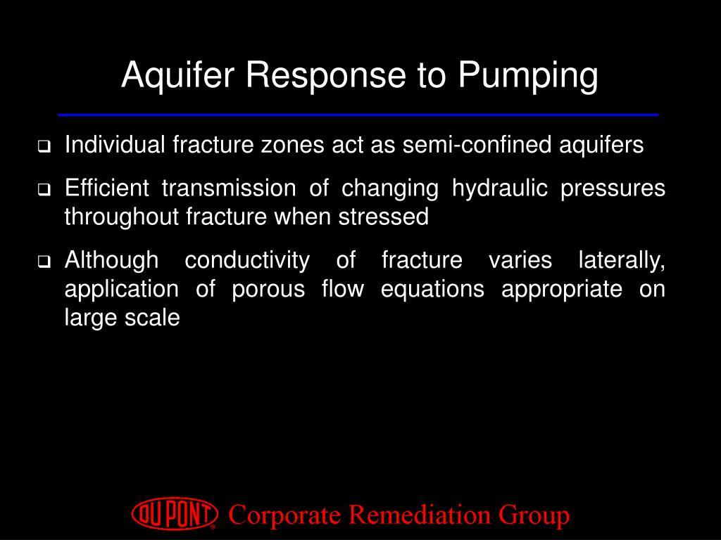 Aquifer Response to Pumping