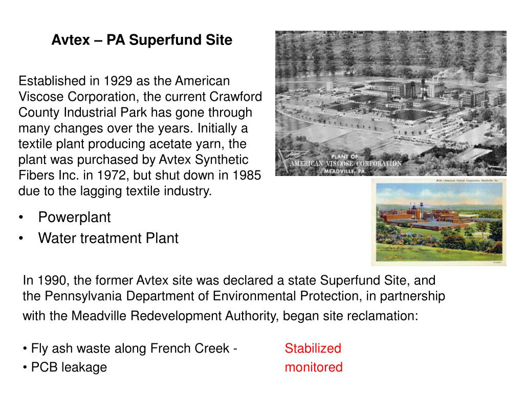 Avtex – PA Superfund Site