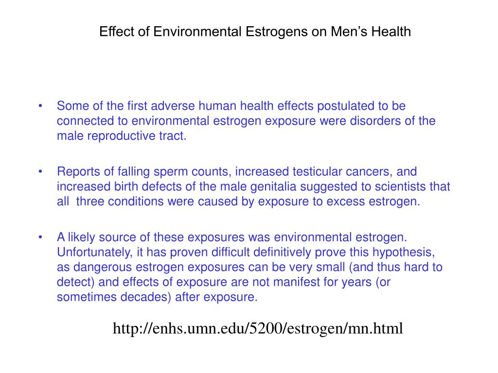 Effect of Environmental Estrogens on Men's Health