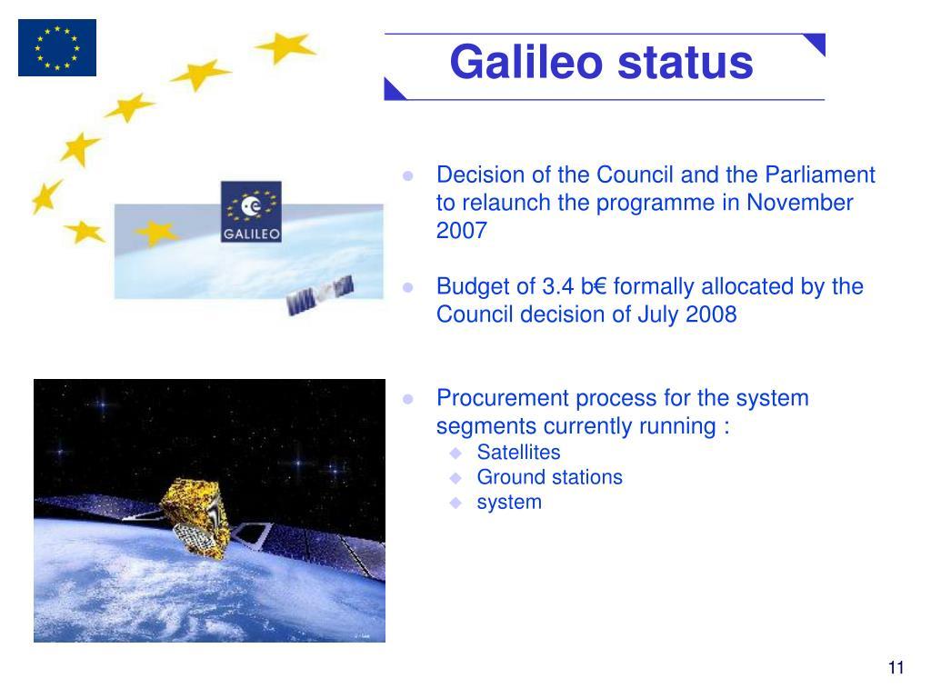 Galileo status