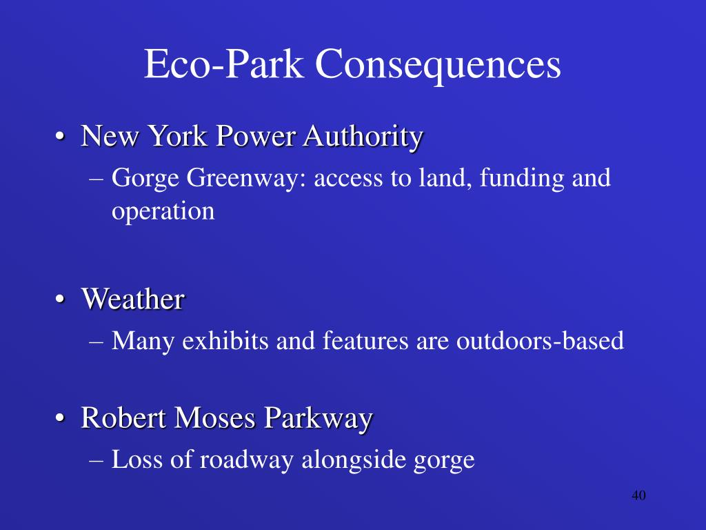 Eco-Park Consequences
