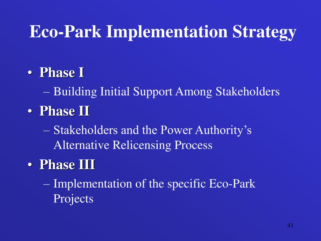 Eco-Park Implementation Strategy