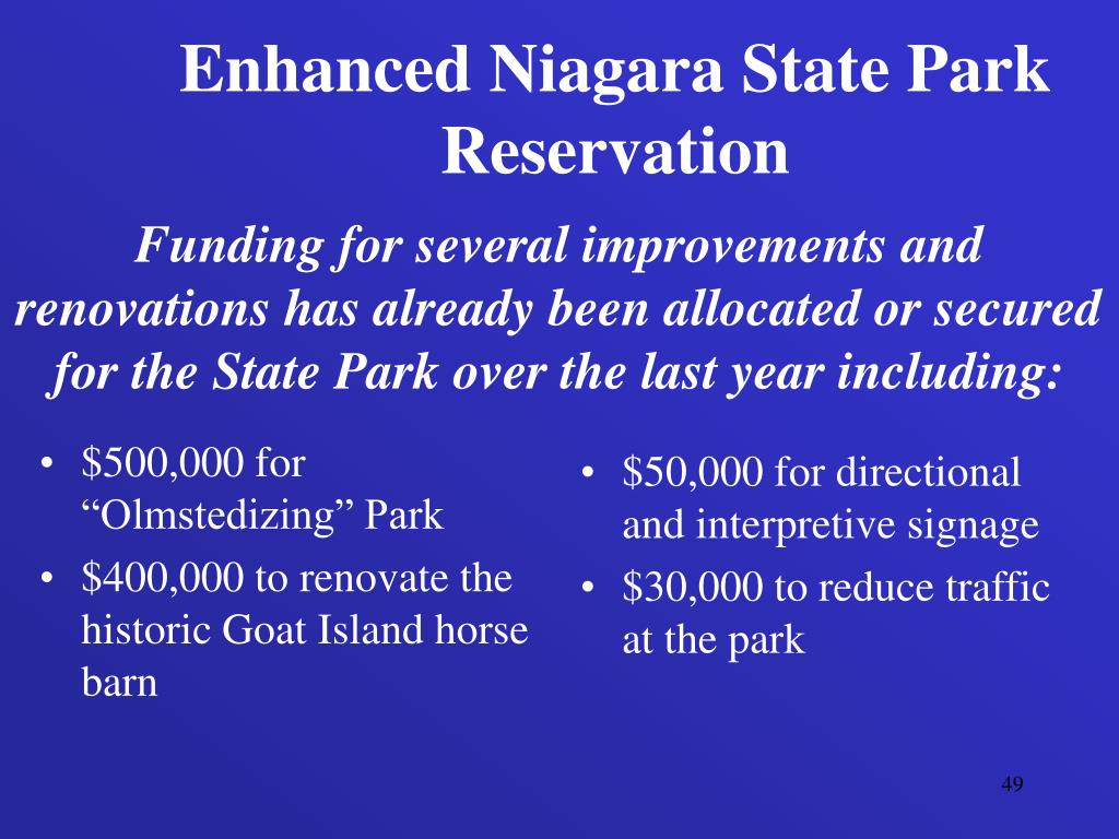 "$500,000 for ""Olmstedizing"" Park"