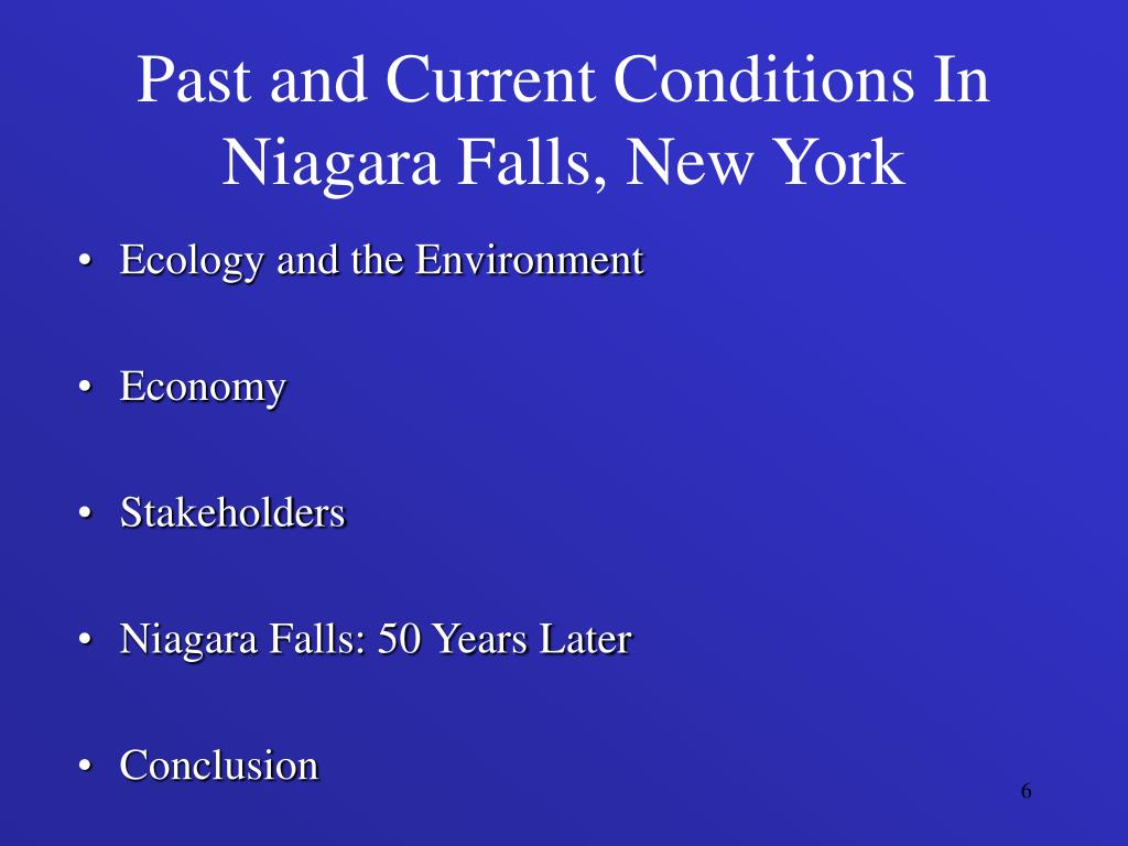 Past and Current Conditions In Niagara Falls, New York